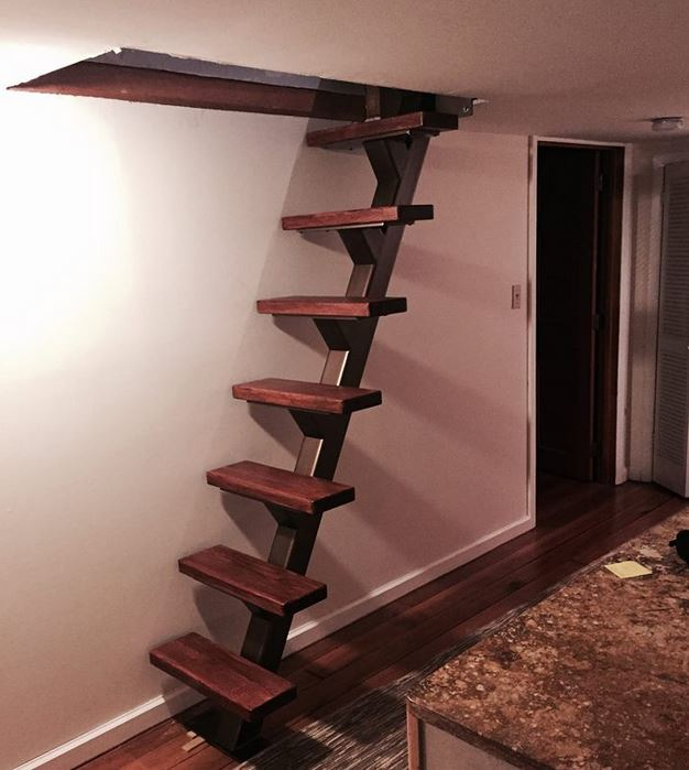 custom single stringer staircase