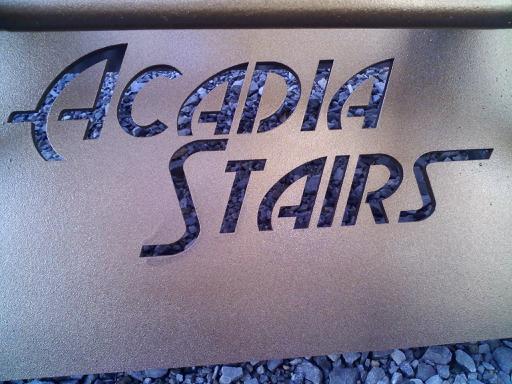 Acadia Stairs Tread Logo Design Tri-Frame