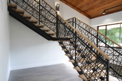 double stringer staircase unique railing