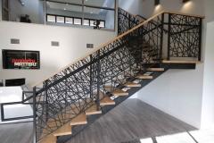 double stringer staircase unique railing