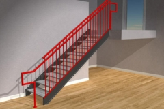 Commercial Style Railing - STS18