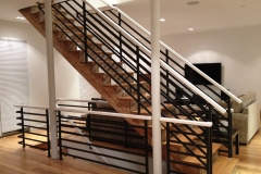 Staircase with Horizontal Line Railings