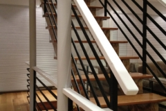Stairs with Horizontal Line Rails