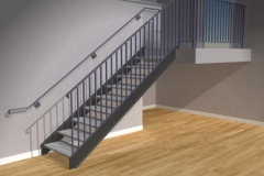 Stairs with Rails on Both Sides