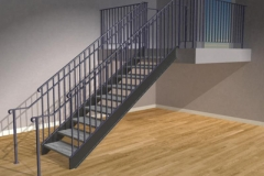 Stairs with Full Railings on Both Sides