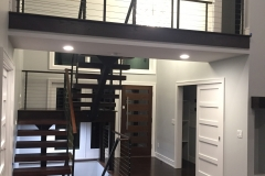 single stringer metal staircase