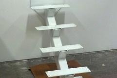 white single stringer staircase