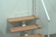 white metal single stringer stairs