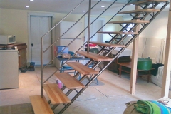 Installed Tri-Frame Staircase