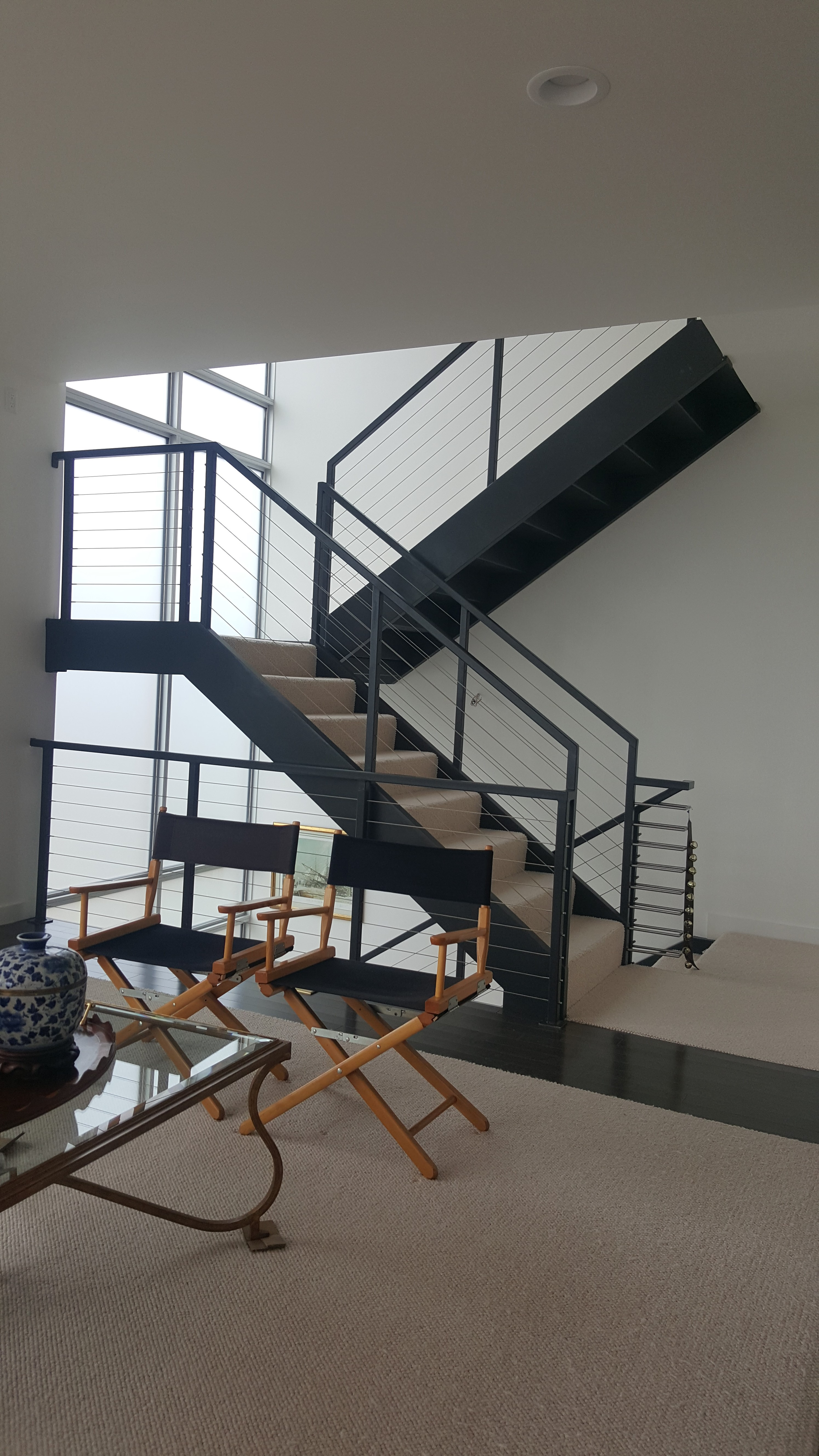 side stringer indoor staircase