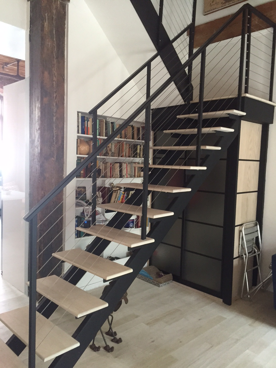double stringer custom metal staircase