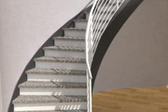 Double Stringer Curved Stairs. Curved Staircase Closed