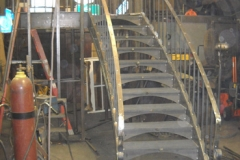 curved staircase in production