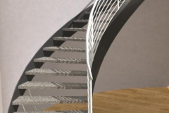 open curved staircase