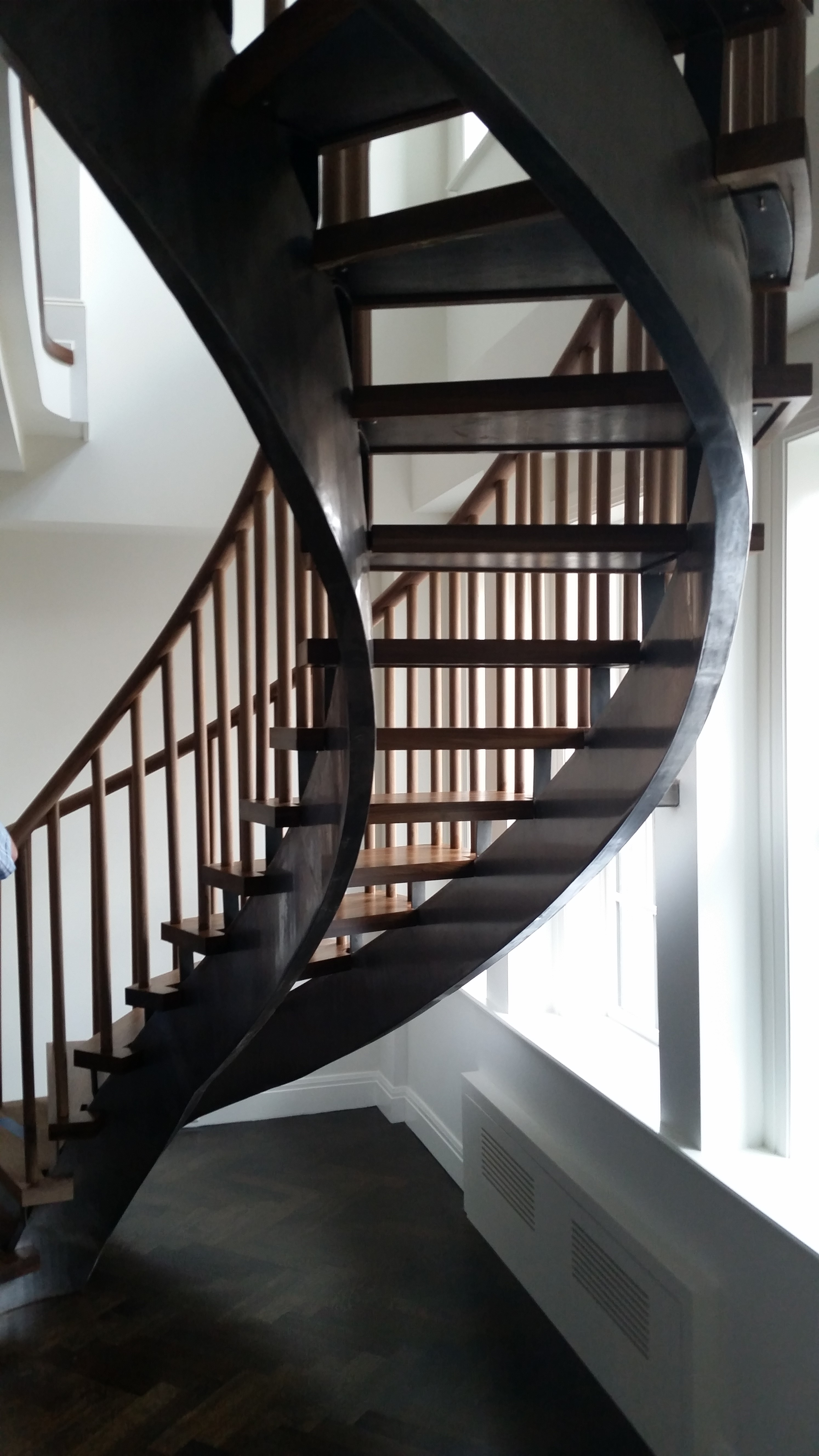 Curved Staircases Steel Stringer Stairs In Nyc Ct