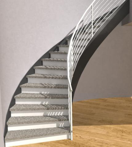 Closed Curved Staircase