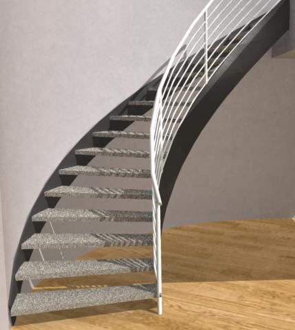 Open Cuved Staircase