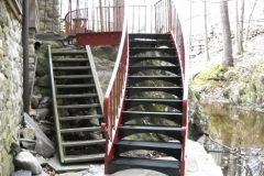 Curved Stairs with Grating Treads