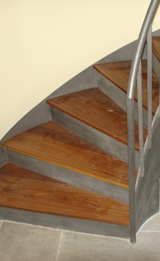 Close Up Of Staircase Treads