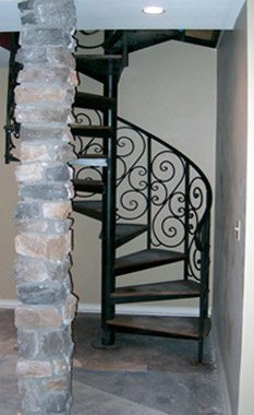 spiral staircase painted semi-gloss black