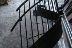 staircase painted with flat black primer