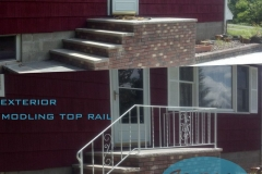 exterior railing before and after