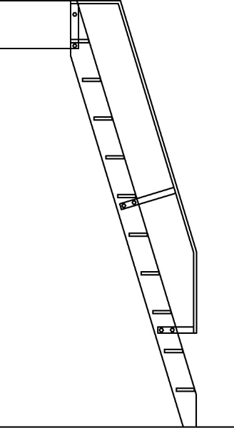 Ladder with Level-Off Rail - SL03