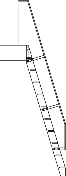 Ladder with Safety Rail - SL04