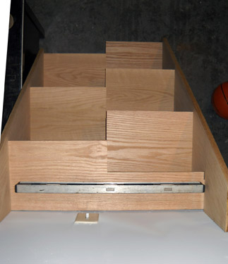 Oak Stairs with Alternating Tread - SL07