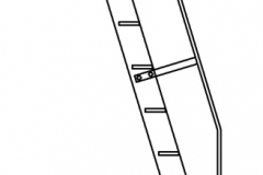 Ladder with Level-Off Rail