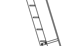 Ladder with Safety Rail