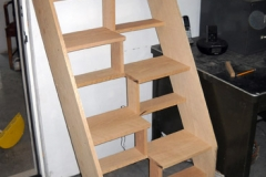 Oak Staircase with Alternating Tread