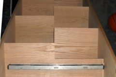 Oak Stairs with Alternating Tread