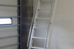 White Ship Ladder with Rails