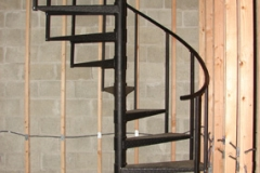 adjustable metal spiral staircase