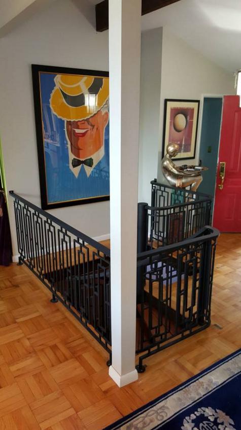 level wrought iron railings