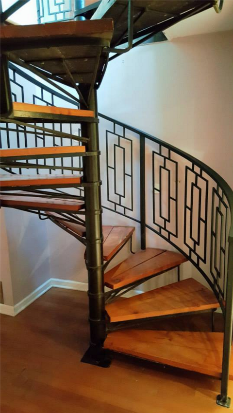 spiral stair with railings