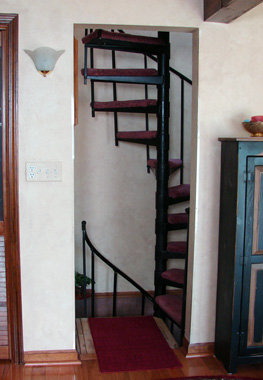 adjustable carpet tread spiral staircase