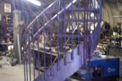 Curved Stringer Spiral Staircase in Shop - SPS04