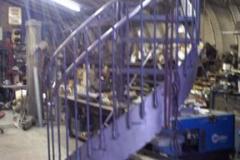 curved stringer spiral staircase