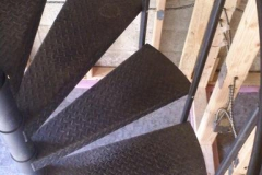 Diamond Plate Spiral Staircase Top-Down - SPS05
