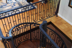 level and spiral stair railings