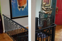 level wrought iron railings