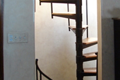 Adjustable Wood Treads Spiral Staircase - SPS07