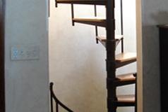 adjustable wood tread spiral stairs