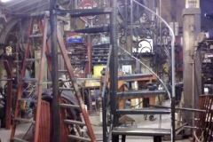 Spiral Staircase Combination with Wrought Iron Railing - SPS14