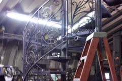 Spiral Staircase Combo with Wrought Iron Railing - SPS15