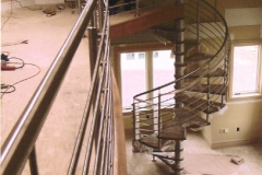 Stainless Steel Spiral Staircase in NYC - SPS19