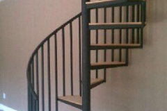 steel spiral staircase wood treads