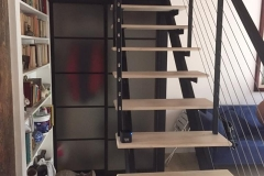 double stringer staircase wood treads